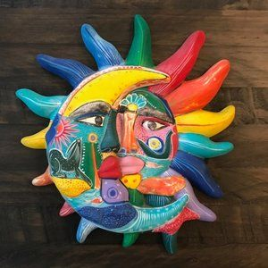 Other - Colorful Ceramic Sun/Moon Plaque